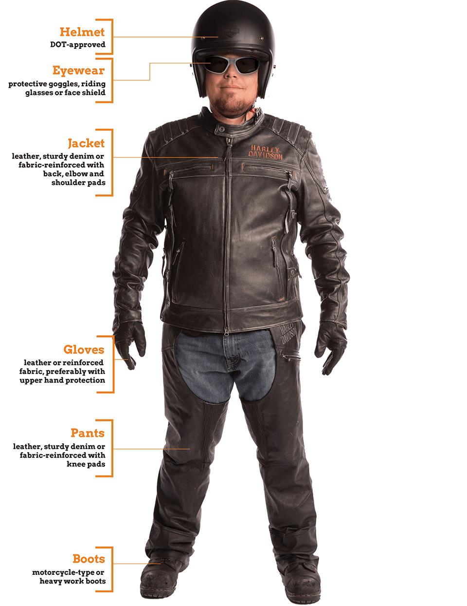 Proper rider gear